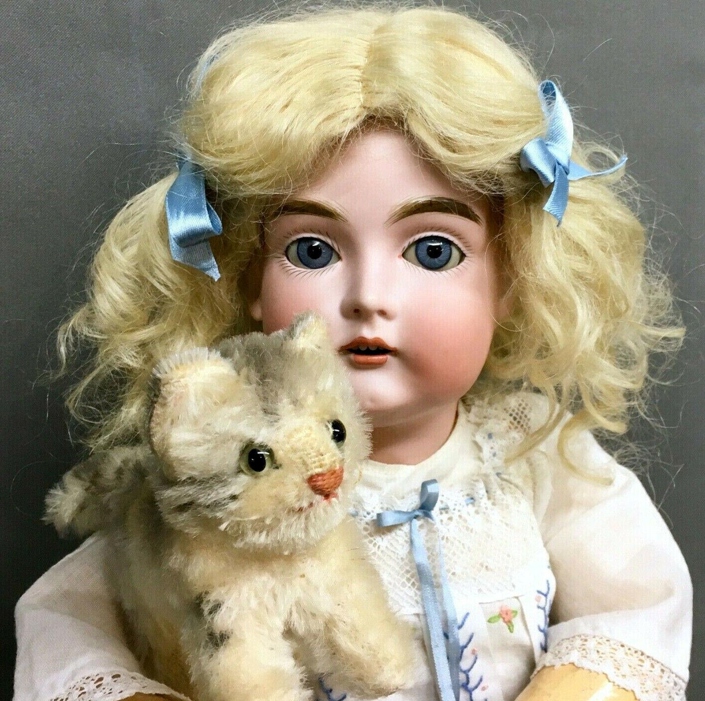 21  Alphabet Kestner   167 F 10 Antique Doll - SO BEAUTIFUL - Bisque Head German