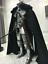 "1//6 Scale Soldier Accessories Clothes Model Black Cape Cloak Robes F 12/"" Body"