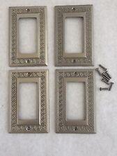 Jackson Deerfield  Rocker Light Switch Outlet Plate Cover Solid Brass set of 4