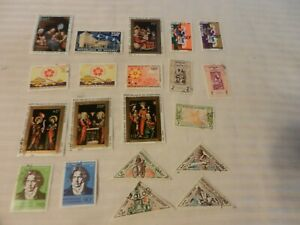 Lot-of-20-Dahomey-Stamps-Expo-039-70-Native-Life-Beethoven-Christmas-Art