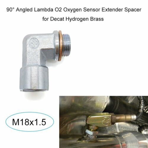 M18X1.5 O2 Oxygen Sensor Angled Extender Spacer 90 Degrees 02 Bung Extension *RS