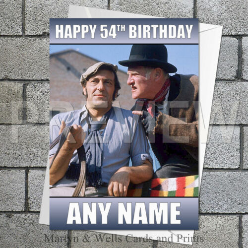 Plus envelope. Steptoe and Son personalised birthday card 5x7 inches