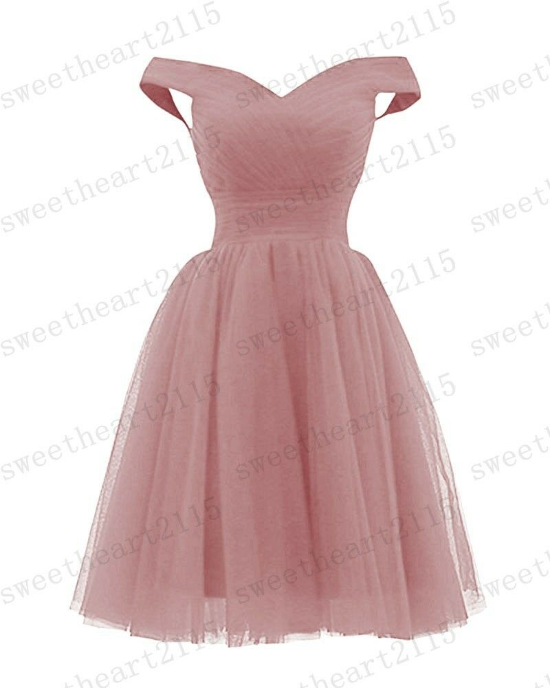 f0dae83073 ... New Short Bridesmaid Formal Gown Gown Gown Ball Party Evening Prom Dress  Size 6-24 ...
