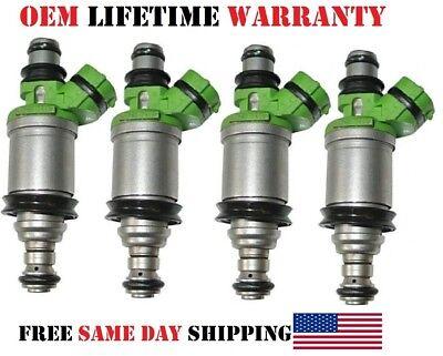 OEM DENSO #23250-74140 Fuel Injectors />YRS 93-99 Toyota Camry 2.2L I4/< Refurb x4