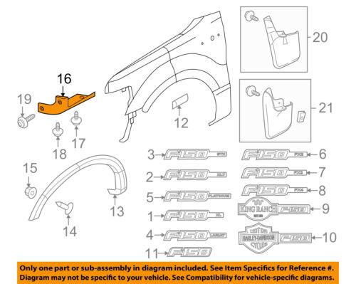 FORD OEM 05-14 F-150 Fender-Mud Shield Right 5L3Z16G554AAA