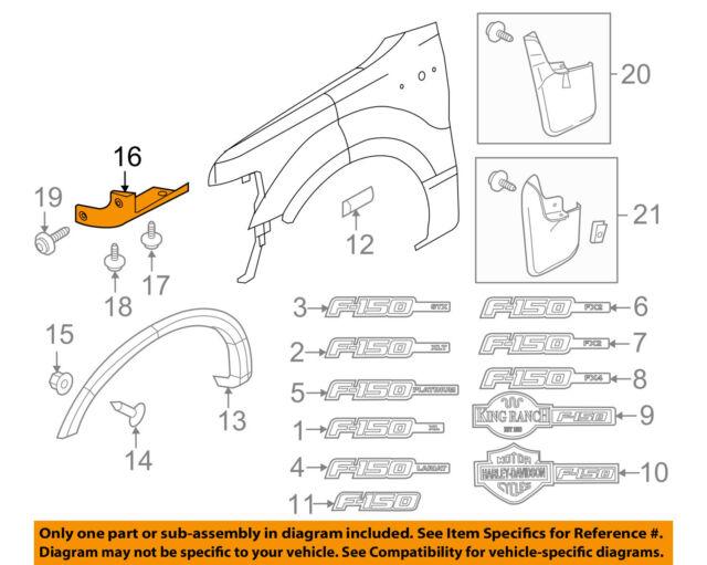FORD OEM 11-14 F-150 Fender-Mud Shield Left BL3Z16G555AA