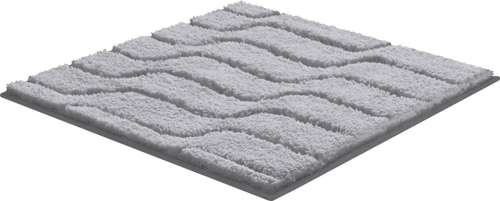 Qualitäts Baumwoll Badteppich Vogue Farbe grau   3 Größen | Clearance Sale