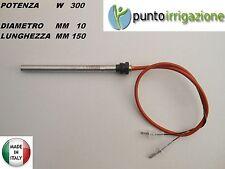 """Candeletta accensione STUFA PELLET resistenza D. 10 x 150 300W A VITE 3/8"""" GAS"""