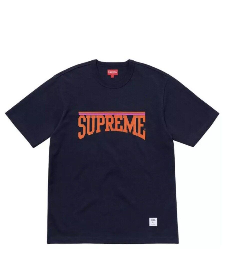 Supreme Arch S/S Top Tee SS18 Navy Sz M