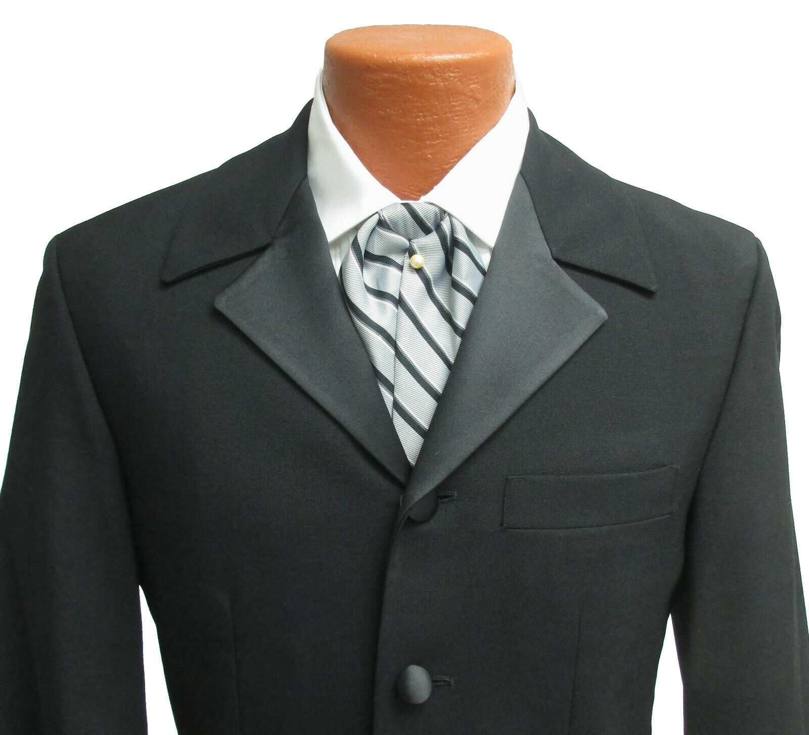 Black Tuxedo Jacket with Houndstooth Pants Steamp… - image 3
