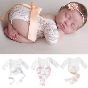 Newborn-Infant-Baby-Girl-Clothes-Jumpsuit-Romper-Bodysuit-Headband-Outfits-Set