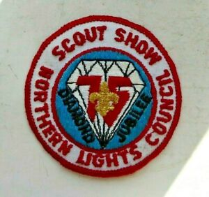 Vintage-cloth-Scouts-badge-Scout-Show-Northern-Lights-Council-Diamond-Jubilee
