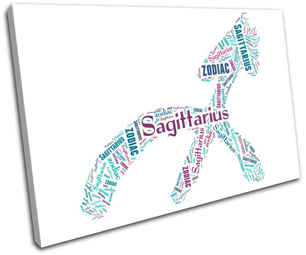 Sagittarius Zodiac  Starsign SINGLE Leinwand Wand Kunst Bild drucken