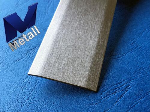 Sonder Edelstahl Abdeckleiste 130x1920x1,0mm  nur 1-fach 175° gekantet Korn 320.