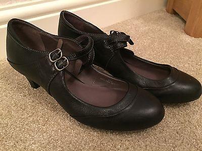 Damas Tacón Marrón Zapatos 2 Talla 4.5 Reino Unido