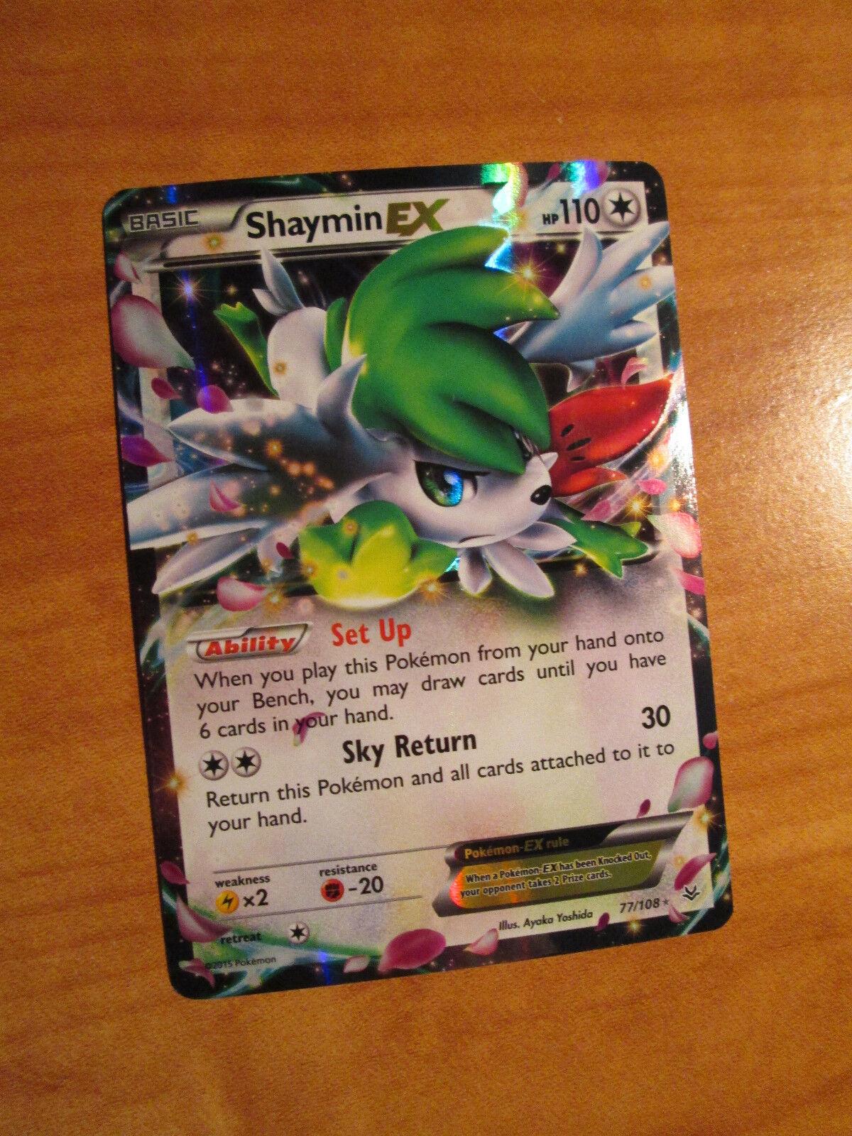 Lp Pokemon Shaymin Ex Card Roaring Skies Set 77108 Xy X And Y Ultra