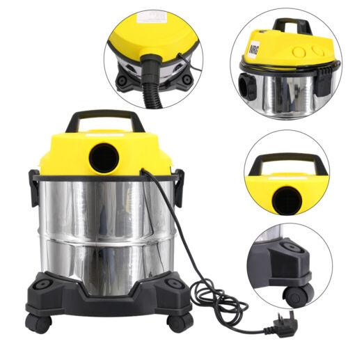 Wet Dry Vacuum Cleaner 20LTR 18KPA 1200W HEPA Blower Vac Stainless Steel