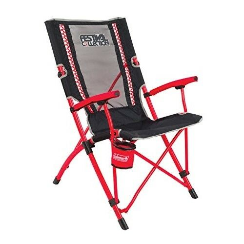Coleman Camping Chair Festival Bungee, lightweight folding chair with comfortabe