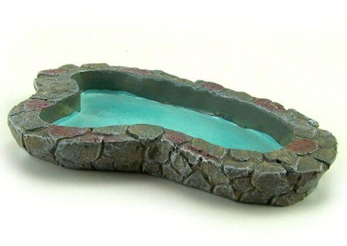 Miniatur Teich aus Polyresin 16,5x10x2 cm Für Krippe oder Puppenhaus