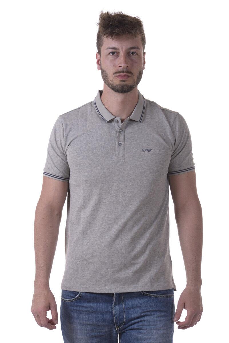 Polo Armani Jeans AJ Polo Shirt Cotone Uomo Grigio 8N6F2B6JPTZ N 3927