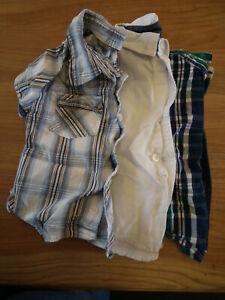 Baby Boy Clothes Shirts Long-manches Courtes Bottes Taille: 12-18 Mth 3 Objets (219)-afficher Le Titre D'origine Doux Et LéGer