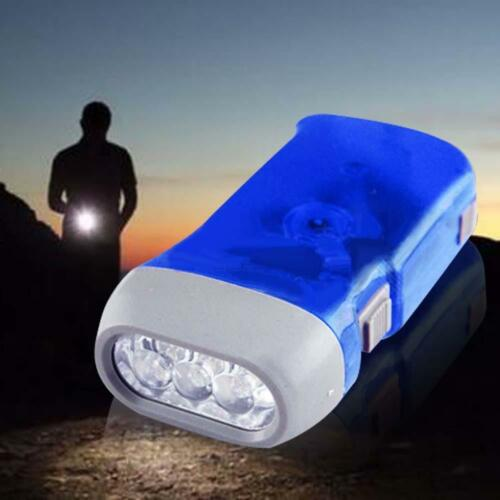 Self Generating Squeeze Power Emergency  LED Flashlight No Batteries Needed ZH