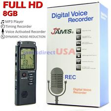 8GB FULL HD Digital Audio Voice Recorder Dictaphone Hidden Spy USB Pen MP3 Music