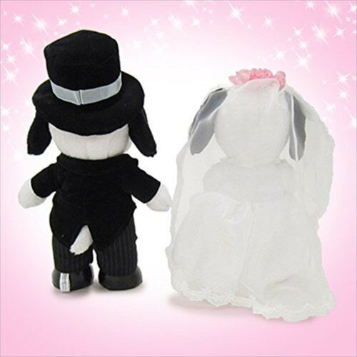 NEW PEANUTS Snoopy /& Belle Wedding Welcome Doll Plush Stuffed Western style L