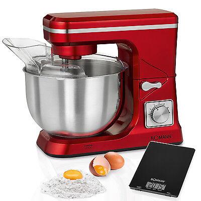 Robot cocina multifuncon batidora amasadora reposteria 5 L 1000 W Bomann KM 1393