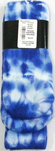 Socks Athletic Sports Over the Calf Tube Ribbed Knit Leg Mens Tie Dyed Red Lion