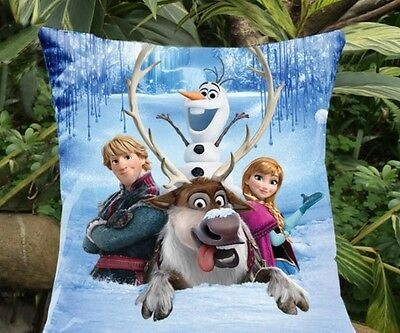 Frozen Elsa Anna Pillow Cover Case Cushion Case Print Both Sides kids gift