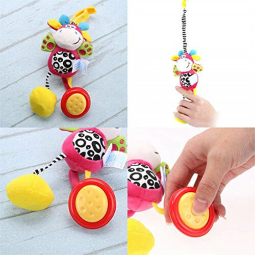 Infant Mobile Soft Plush Animal Rattle Toy Wind Chime Crib Bed Hanging Bell JD