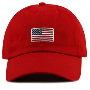 c1b8ed890 100% cotton stone washed baseball cap with USA Flag embroidery on ...