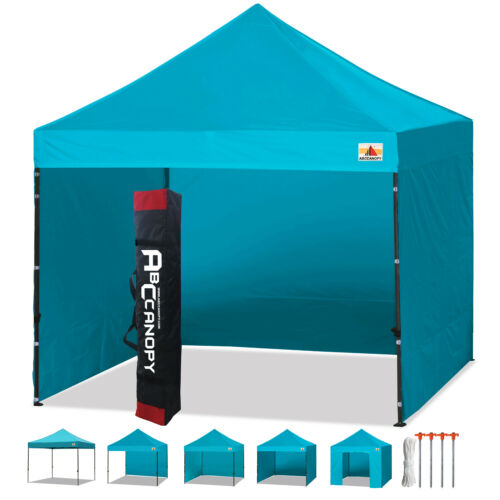 ABCCANOPY 3x3 Pop Up Gazebo Commercial Tents Market stall with 4 Removable walls