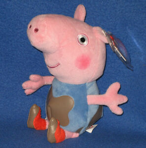 1376c3ef4d1 TY GEORGE (MUDDY PUDDLES) PEPPA PIG BEANIE BABY - MINT TAGS - UK ...