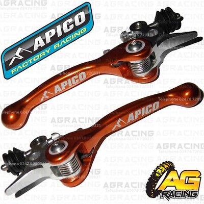 Apico Black Orange Rear Brake /& Gear Pedal Lever For KTM EXC//F 350 2013 MotoX