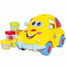 Electric Car Toy Flashing Front & Back Lights and Music, Bump'n'Go, Shape Sorter