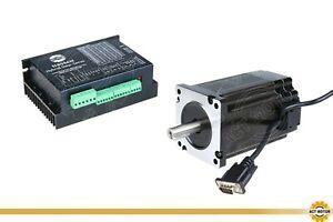 MOTORE ACT GmbH 1pc NEMA 34 closed loop Stepper 12nm 6a+1pc driver hbs86h Engraver