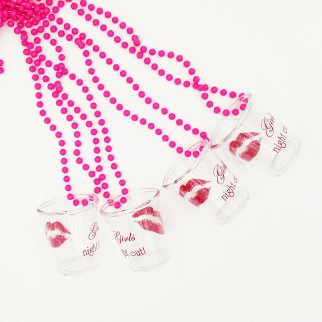 Party Accessory Red Amscan Shot Glass Necklace