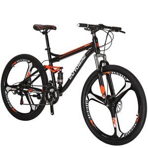 Details about S7 Full Suspension Mountain Bike 21 Speed Mens Bikes Disc  Brake 27 5