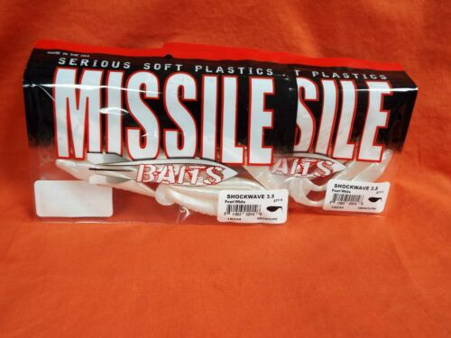 8PK blanc perle Missile Appâts Shockwave 3.5 MBSW 35-PW 2PK/'S