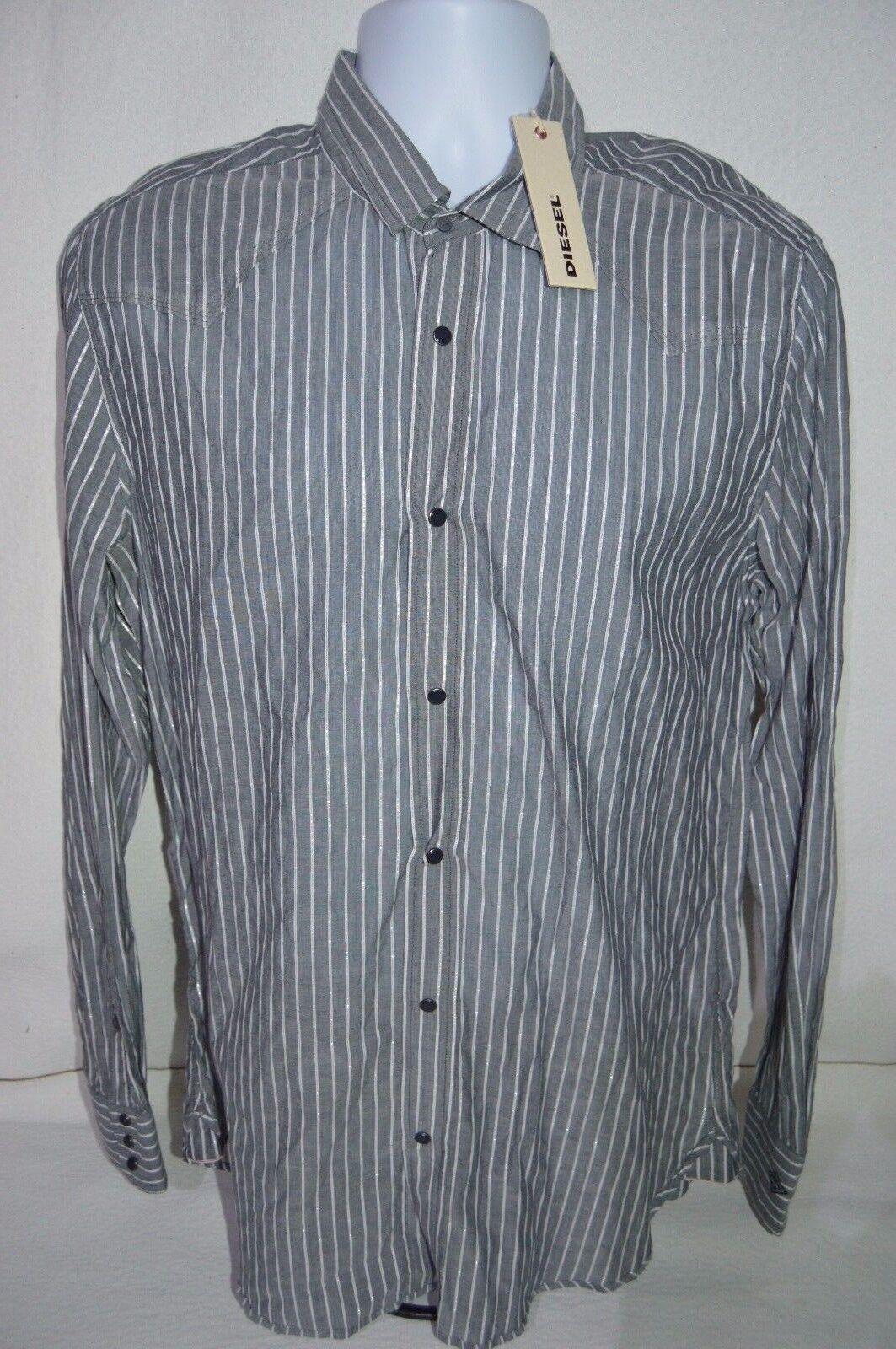 DIESEL Man's SISALIKO Casual Sheer Shirt  NEW  Size Large  Retail