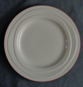 JAMIE-OLIVER-WAVES-ROOD-RANDJE-ontbijtbord-21-5cm-bord-RED-RIM-plate-Assiette