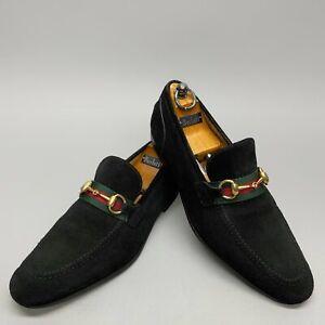 GUCCi horsebit dress loafers soft black