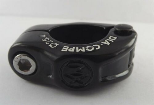 Black 25.4mm New Dia-Compe MX Hinged Old School BMX Seat Clamp 1/""