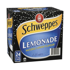 Schweppes Lemonade Multipack Cans 375mL 24 pack