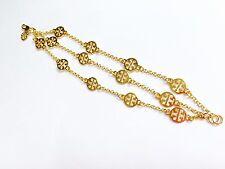 NEW Gold Clover Bracelet Bangle Stack Chain Strand Designer TB Charm