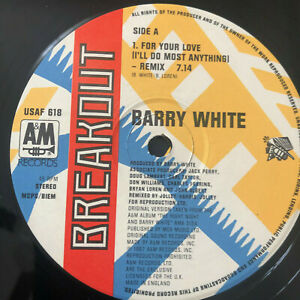 Barry-White-For-Your-Love-1987-UK-Vinyl-12-034-PUSAF618-UNPLAYED