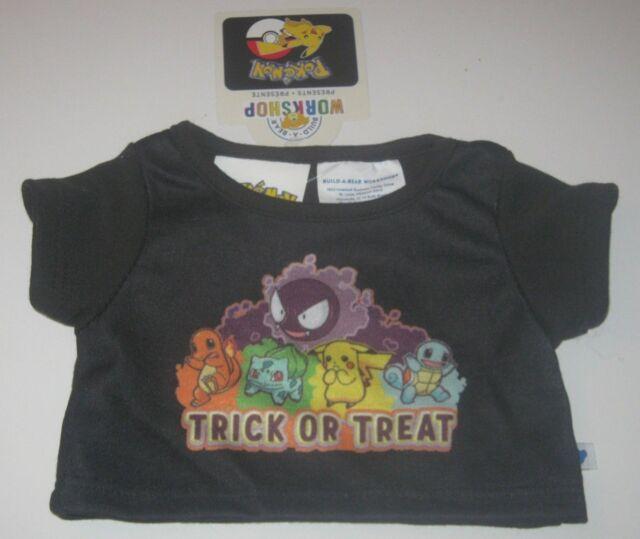 c8a4021e BUILD-A-BEAR Halloween POKEMON TRICK OR TREAT Black Shirt Bulbasaur  Charmander