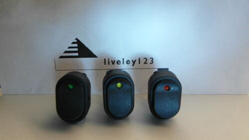 OFF 12v  Car Dash board LED ILLUMINATED  ROCKER  SWITCHES  x 3  ON